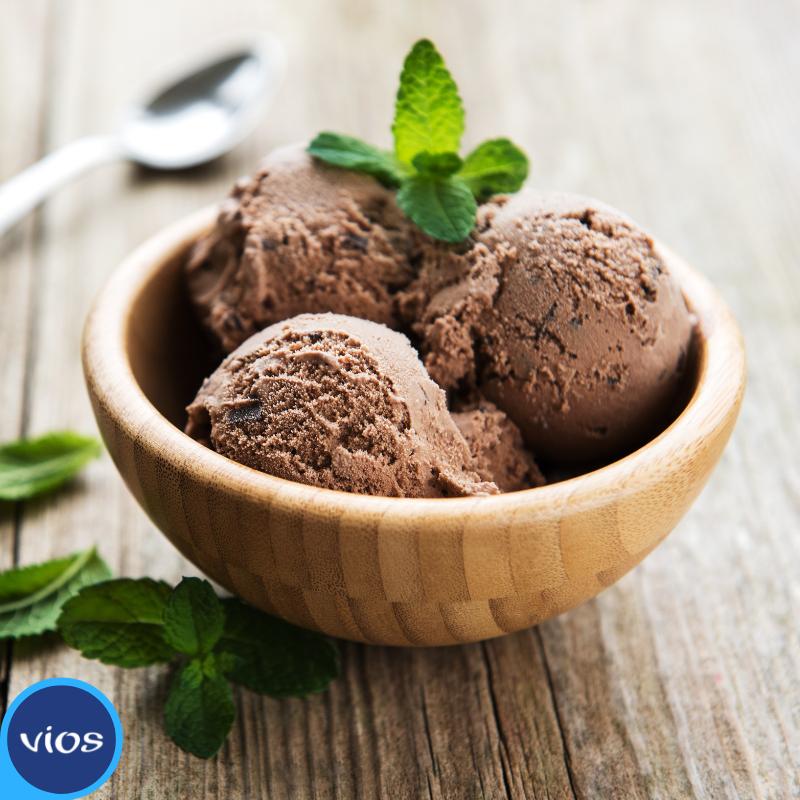immagine di frozen yogurt al cioccolato con vios