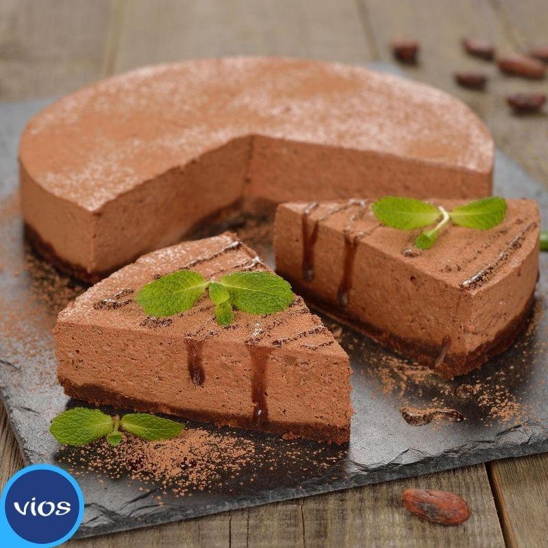 ricetta torta frigo a base di yogurt greco e cioccolato