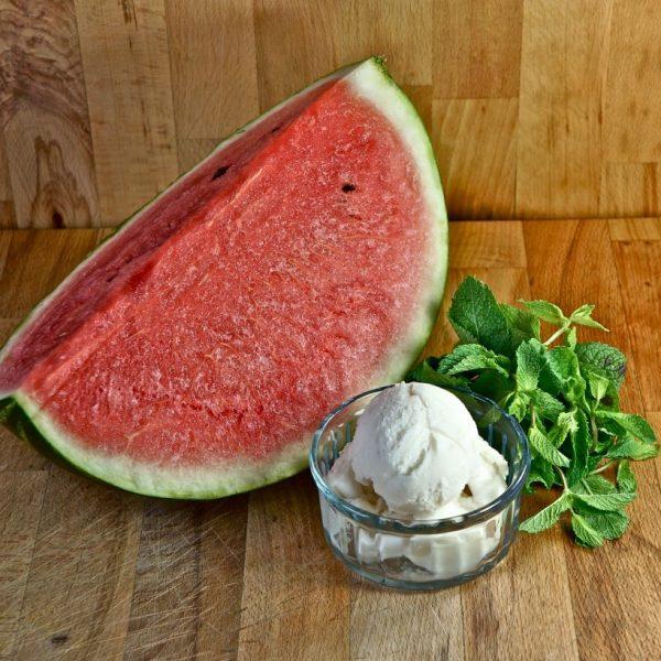 Gelato all'anguria con yogurt Vios
