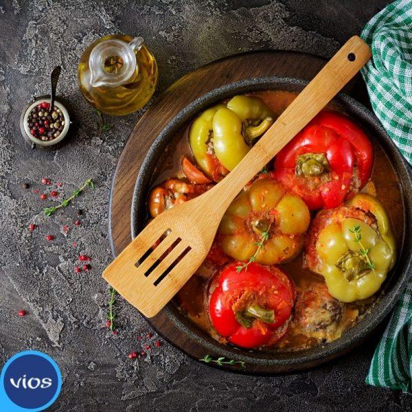 Peperoni al forno con yogurt greco e alici