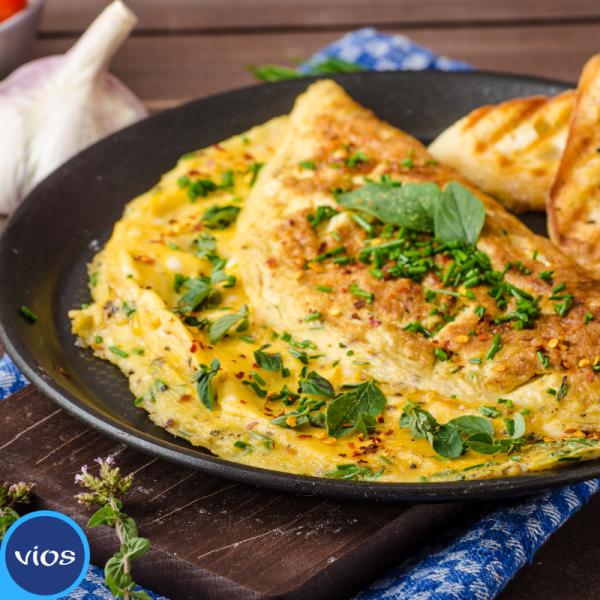 Omelette allo yogurt greco e spinaci